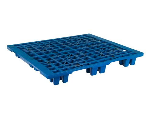 Top of the LogisticX 12-10 lightweight plastic export pallet.